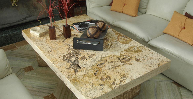 Mesas de travertino mesas de m rmol stone control for Marmol travertino verde